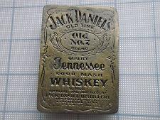 Vintage Belt Buckle Jack Daniel's whiskey distillery Tennessee Old No.7 brass #2