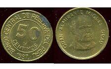 PEROU  50 centimos 1987  ( bis )