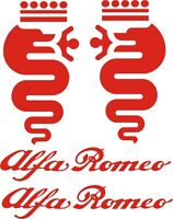 2 ADESIVI  BISCIONE ALFA ROMEO dx +sx  +  2  LOGHI   ALFA ROMEO