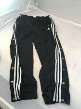 VTG ADIDAS Snap Breakaway Track Pants Soccer Men Large Black Basketball USA Flag
