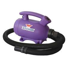 XPOWER B-55 2 HP Portable Home Pet Grooming Dog Cat Force Dryer & Vacuum- Purple
