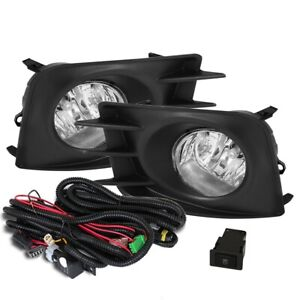 Fit 11-13 Scion TC Front Bumper Fog Lights Clear H11 Bulbs Wiring+Switch