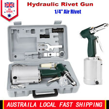 "1/4"" Air Pop Rivet Hydraulic Tool Riveter Gun Industrial Pneumatic Set 4.0cfm AU"