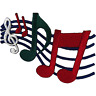Music Notes Patch Iron Sew On T Shirt Jeans Bag Embroidered Badge Musical Sheet