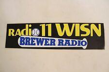 Vintage Milwaukee Brewer Radio Baseball Bumper Sticker MLB Rare Black Bat WISN