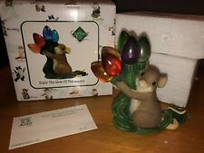 "Charming Tails ""Enjoy The Glow Of The Season"" Signed Christmas Light Fitz Floyd"