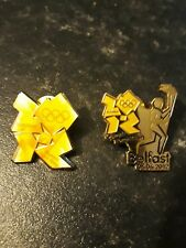 London 2012,Olympic relay pin badge,2 ( Belfast)*all sensible offers considered*