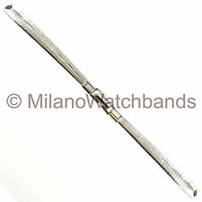 Speidel Stainless Steel Silver Tone Art Deco C-Ring Ladies Watch Band A992/2