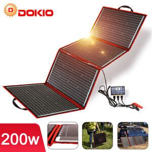 200W Faltbar Tragbar Mono SolarPanel + 12V Batterie Laderegler Camping Wohnmobil