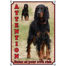 Dog Sign Gordon Setter - Attention