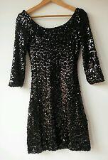 VILA Clothes DRESS Small LINED Black UK 8 VGC