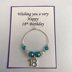 Wine Class Charm 18th 21st Coming of Age Turquoise Birthday Present in Gift Bag