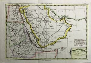 1781 Bonne Map of Arabia