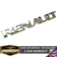 Renault Badge Letters Tailgate Chrome Rear Boot 143x17mm Clio Megane Scenic Zoe