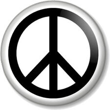 """Peace Symbol (2) 25mm 1"""" Pin Button Badge Pacifist Ban the Bomb Sign Hippie Love"""