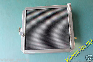 Fit LAND ROVER 88/109 2.3/2.3D MT 1963-1986 ALUMINUM RADIATOR 56MM 2 ROWS