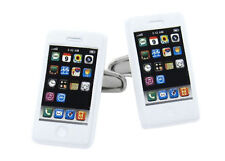 White iPhone style / mobile handset Cufflinks, Superb Quality, RRP £19.99