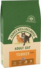 10kg James Wellbeloved Natural Adult Complete Dry Cat Food Turkey and Rice