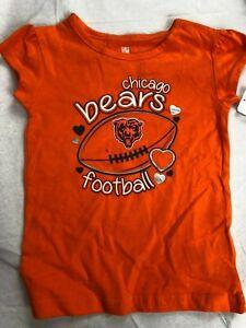 NFL Chicago Bears Toddler's Logo Shirt - NWT - Orange - Various Sizes - C366