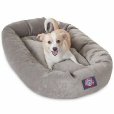 New listing 32 inch Vintage Villa Collection Micro Velvet Bagel Dog Bed By Majestic Pet P.