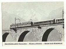 Swiss Broadcasting Corporation Radio QSL card, 1969, Kander Viaduct