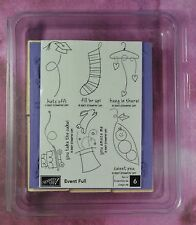 STAMPIN UP EVENT FULL NIP birthday baby congrats Christmas 6 rubber stamps #3086