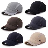 Men Mesh Summer Baseball Cap Adjustable Sun Hat Breathable Casual Sport Golf Cap