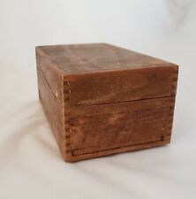 Vintage Index Recipe Card Filing Box Peters Artist Wood Products Dovetailed 1968