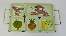 mid century design 60s - Schramberg Gourmet Snack Schalen Set + Tablett ~ 60er