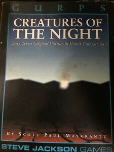 SJG GURPS Creatures Of The Night Role Playing Book