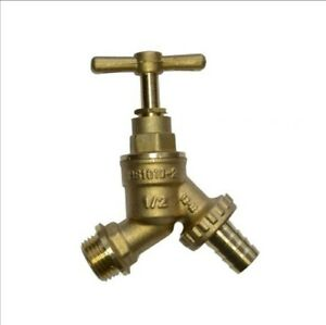"Brass Outdoor Garden Tap Hose Union Bib Tap 1/2"" - for Garden Hose WRAS"