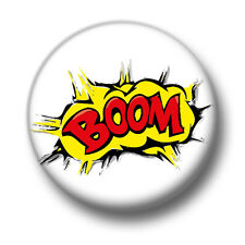 Boom 1 Inch / 25mm Pin Button Badge Comic Books Graphic Novels Action Effect Fun