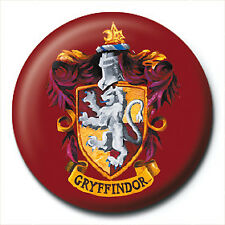 Harry Potter Pin Badge Button Brooch Gryffindor House School Crest Official