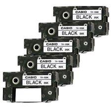 5 Casio TR-18BK Black Ink Ribbon TR18BK for CW50, CW75, CW100, CW-L300