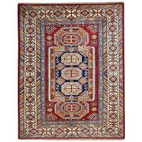 Hand-Knotted Super Kazak Design Caucasian Handmade Wool Rug 5.0X6.10 Brral-3231