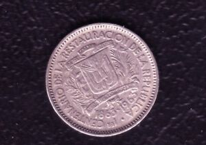 R DOMINICANA 5 CENTS 1963