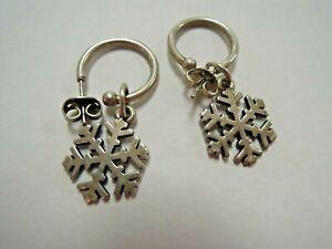James Avery Sterling Silver Snowflake Charm/Earrings