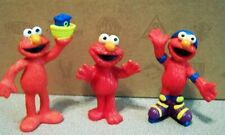 "SESAME STREET - ELMO FIGURES - CAKE TOPPERS 2.5"" - SET OF 3 TYCO COLLECTOR TOYS"