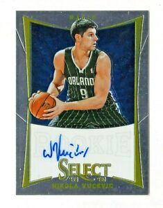 NIKOLA VUCEVIC NBA 2012-13 SELECT AUTOGRAPH RC (ORLANDO MAGIC,CHICAGO BULLS)