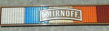 "SMIRNOFF Vodka RAINBOW Rubber Bar Rail Drain Mat 21""x3.5"" Drink Bar Set **"