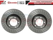 FOR PORSCHE CARRERA 2S 996 REAR 330mm CROSS DRILLED BREMBO BRAKE DISCS PAIR