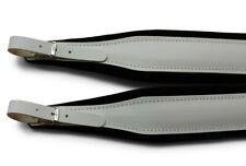 More details for italian white leather on black velvet accordion straps italcinte 306a backstrap