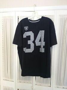 NIKE NFL Oakland Raiders Bo Jackson #34 T-Shirt Mens XL Los Angeles Las Vegas