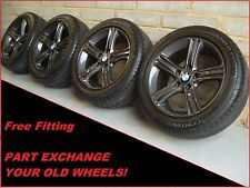 "2042 Genuine 17"" BMW 393 4 3 Series F30 31 Grey Alloy Wheels & Continental Tyres"