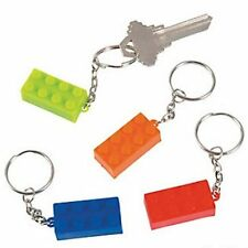 Pack of 12 - Brick Key Chains Keyrings - Party Bag Fillers
