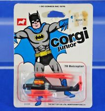 Vintage 1976 Mettoy Co. Ltd. Corgi Junior Batcopter No. 78 on Card
