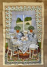More details for pat albeck afternoon tea irish linen tea towel designed for the national trust