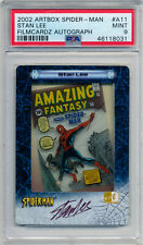 2002 Artbox Spider-Man STAN LEE Auto Filmcardz A11 Rare SP /500 Mint PSA 9 Pop 1
