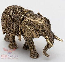 Solid Brass Figurine of Indian Elephant talisman IronWork