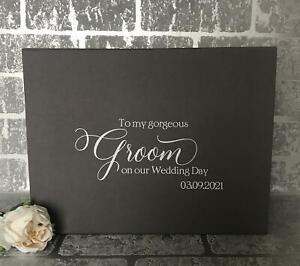 Luxury Personalised Magnetic Wedging Gift Box Keepsake Box, Groom Gift Box